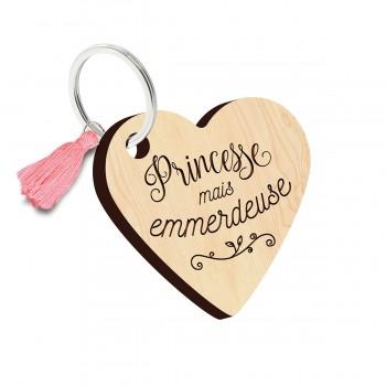 Porte clés - Princesse mais...