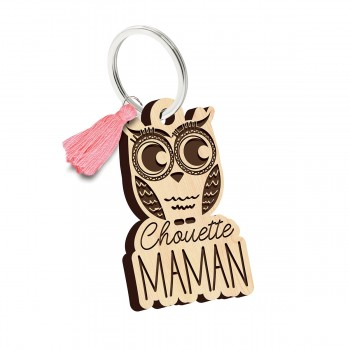 Porte clés - Chouette Maman