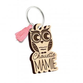 Porte clés - Chouette Mamie