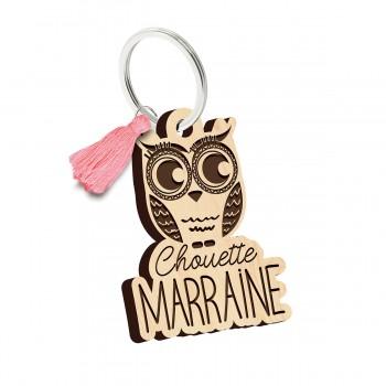 Porte clés - Chouette Marraine