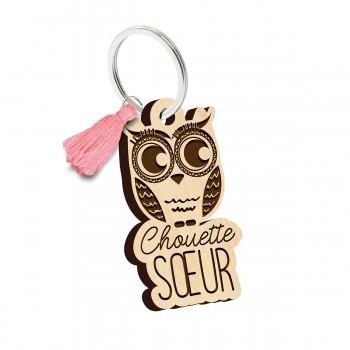 Porte clés - Chouette Soeur