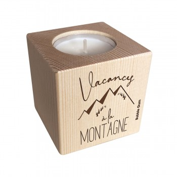 Bougeoir cube Montagne-...
