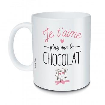 Mug Je t'aime plus que le...