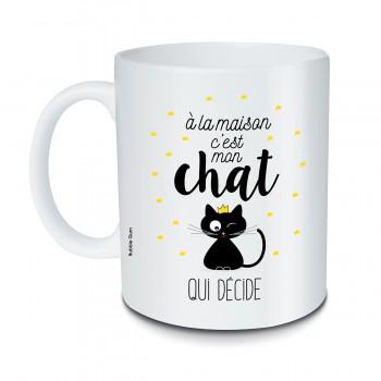 Mug Chat qui décide