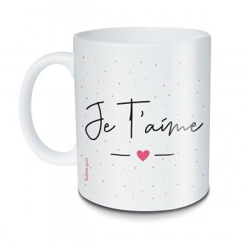 Mug Je t'aime coeur