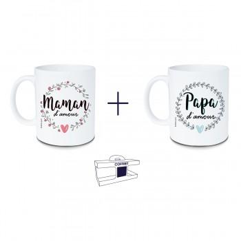 Coffret mug Maman d'amour +...