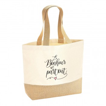 Sac coton/jute naturel - Le...