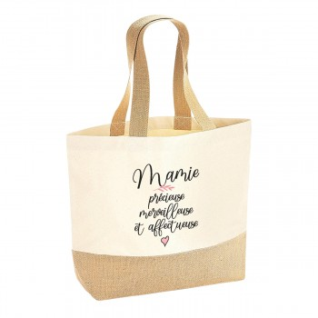 Sac coton/jute naturel -...