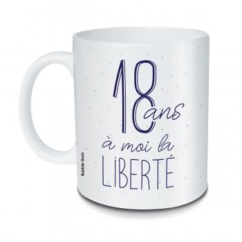 Mug 18 ans liberté