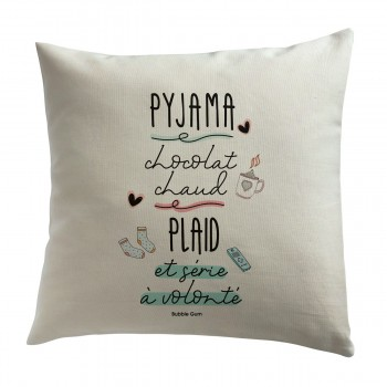 Coussin - Pyjama, chocolat...
