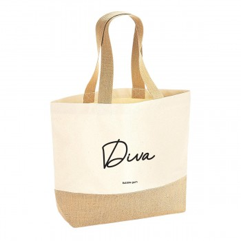 Sac coton/jute naturel - Diva