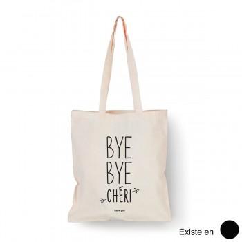 Tote bag Bye bye chéri