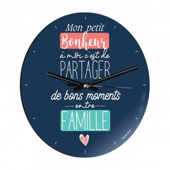 Horloge - Bonheur ent famille