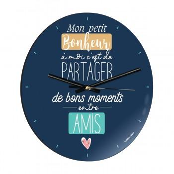 Horloge - Bonheur entre amis