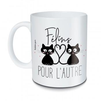 Mug Chat noir Félins pour...